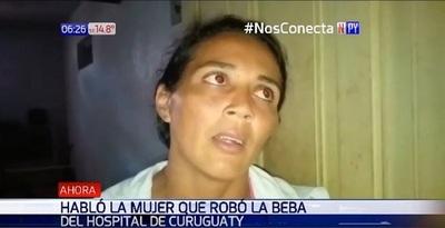 Mujer que raptó a bebé asegura que no lo hizo con mala intención