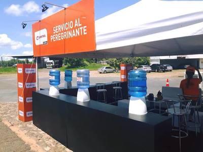 Copetrol brinda asistencia de hielo y agua por el operativo a Caacupé