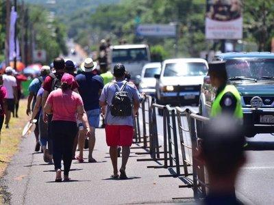 Habilitan desvíos de camino a Caacupé, incluso para ciclistas