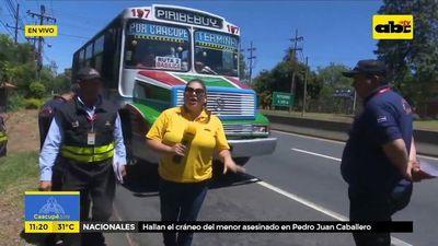 Caminera realiza controles en ruta PY 02