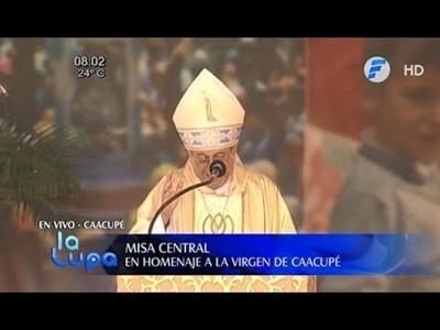 Dura carta del monseñor Valenzuela tras la homilía de Caacupé