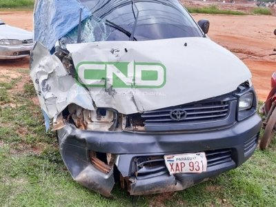 Robó camioneta de su tío y atropelló a un motociclista que iba a Caacupé