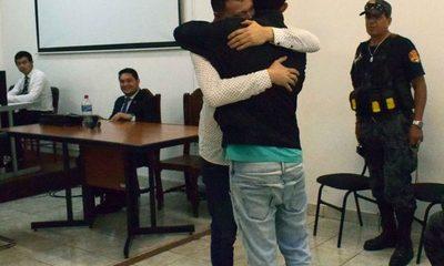 Padre e hijo se reconcilian tras juicio oral por violencia familiar
