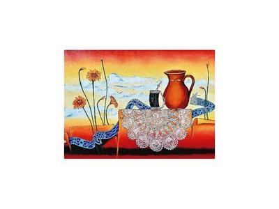 Una exposición que muestra la magia guaraní en pinturas