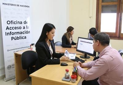 Hacienda atendió 725 solicitudes desde su Oficina de Acceso a la Información
