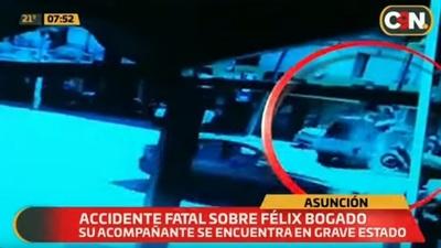 Cámaras captan fatal accidente sobre Félix Bogado