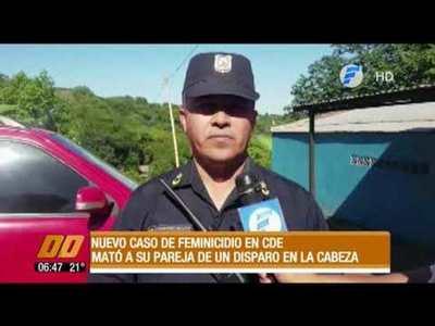 Feminicidio en Alto Paraná: un hombre asesinó a su pareja de un balazo en la cabeza