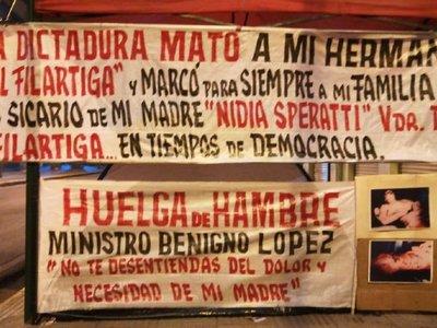Hija de Joel Filártiga hace huelga de hambre exigiendo indeminización