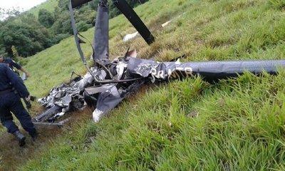 Helicóptero cayó en Itakyry pero solo se hallaron los restos de la nave