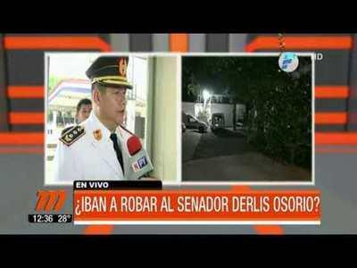 ¿Iban a robar al senador Derlis Osorio?