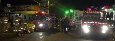 Accidente vial deja 5 heridos en Fernando de la Mora