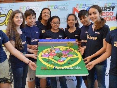 Niños de colegio encarnaceno presentan proyecto de hamaca inclusiva