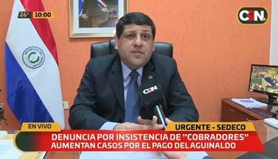 Sedeco anuncia sanciones para empresas que acosan a sus deudores