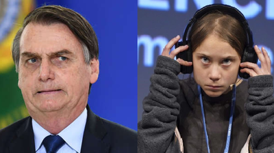 """Bolsonaro califica de """"mocosa"""" a Greta Thunberg y ella le responde en Twitter"""