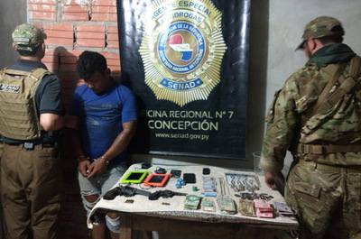Concepción: Incautan crack y detienen a un hombre