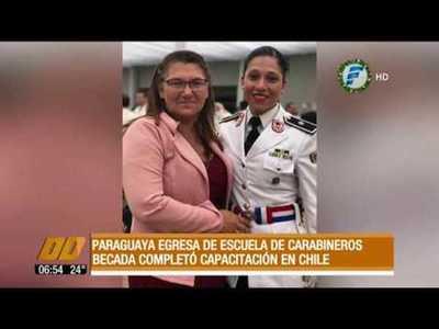 La primera mujer oficial paraguaya egresa de la Escuela de Carabineros de Chile