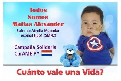Salud Pública descarta asistencia en medicamentos para Matías Alexander