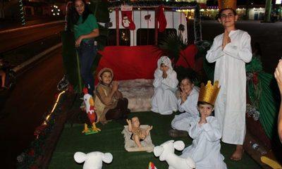 Realizan festival navideño en la Avenida Perú