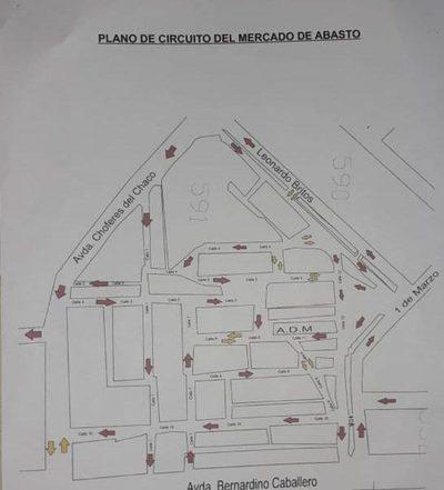 Cambian sentido de calles en Mercado de Abasto de CDE