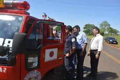Bomberos de Santa Maria recibieron un nuevo carro hidrante