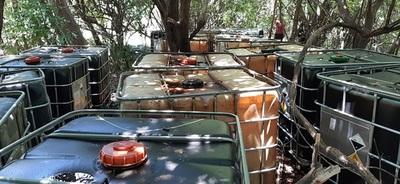 Hallan más de 25.000 litros de combustible de dudoso origen