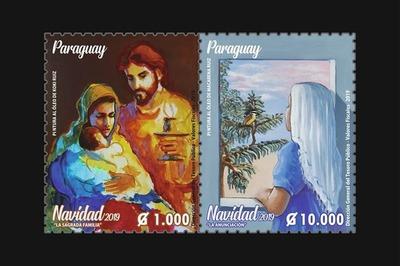 DINACOPA presenta nuevos sellos postales alusivas a la Navidad