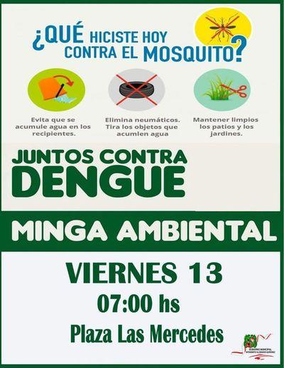 Minga ambiental en San Lorenzo contra el dengue, zika y chikungunya