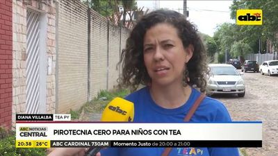 Pirotecnia cero para niños con TEA
