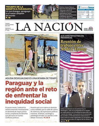 Edición impresa, 13 de diciembre de 2019