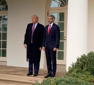 Mario Abdo ya se encuentra en la Casa Blanca
