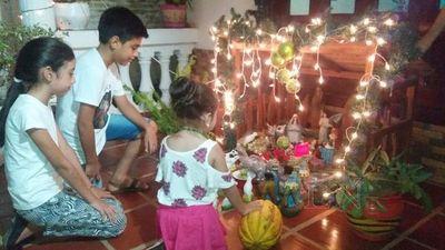 Preparación de pesebre una costumbre que persiste en familias paraguayas