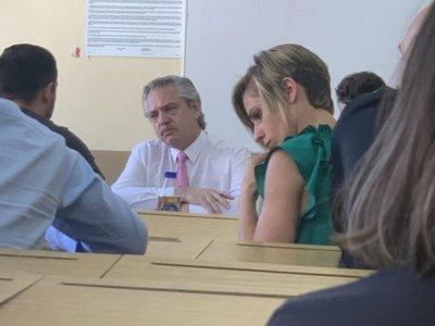 El presidente Alberto Fernández se fue a tomar examen a sus alumnos de Derecho