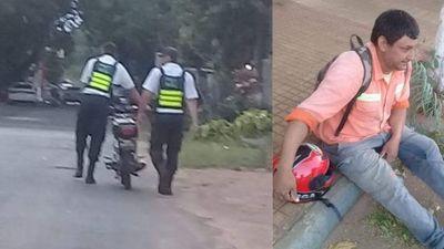 Agentes de tránsito sacan de circulación a conductor irresponsable que manejaba de contramano en pleno centro