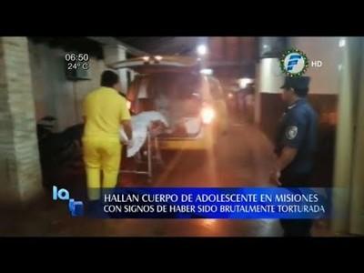 Hallan el cuerpo de una niña de 13 años con signos de tortura