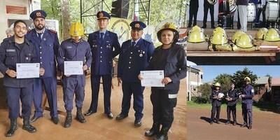 BOMBEROS DE CAPITÁN MEZA CUMPLIERON 20 AÑOS DE SERVICIO