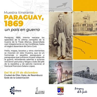 """Muestra itinerante """"Paraguay 1869"""" llega a la ciudad de Pilar"""
