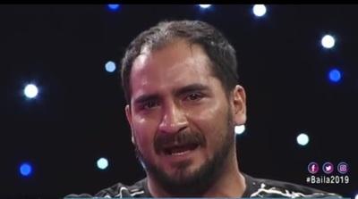 Naldy Cabrera muy emocionado ante la semifinal de Baila, este fue su efusivo agradecimiento