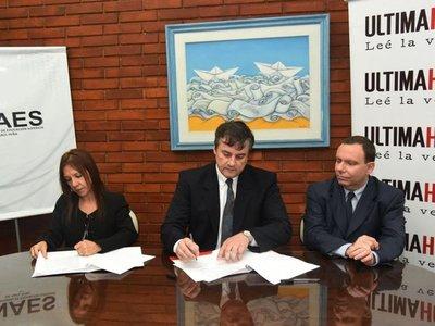 ÚH e Inaes firman    convenio para capacitación  docente a distancia
