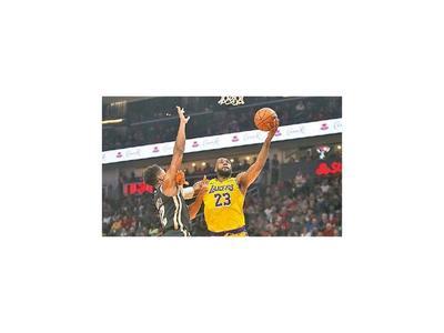 LeBron es líder en  los Lakers
