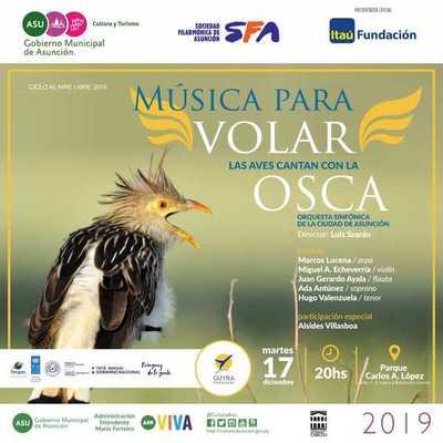 Presentan esta noche Música para Volar en el parque Carlos Antonio López