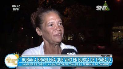 Ni bien llegó, chef brasileña sufrió asalto