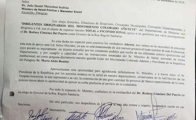 Aparece nota a favor del Dr. Rodney Giménez