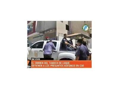 Taxistas de Luque exigieron justicia para su compañero