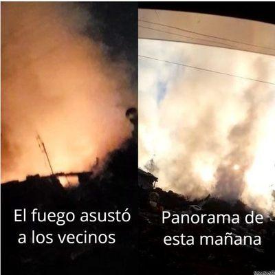 Villa Laurelty: Susto por incendio en basural