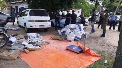 Incautan más de 450 kilos de presunta marihuana sobre ruta que une San Ignacio-Pilar