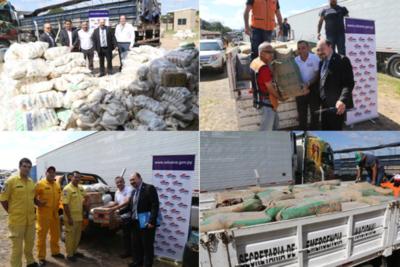 Aduana entregó alrededor de 20 toneladas de alimentos a diversas instituciones