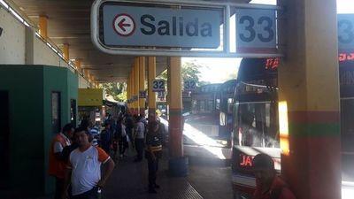 Aproximadamente 260 mil personas pasaron por Terminal de Ómnibus de Asunción