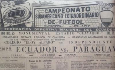 HOY / Navidad de 1959 lo celebraba con una derrota en Copa América