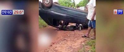 Niño muere aplastado en accidente en Caaguazú