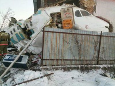 Accidente con avión de línea en Kazajistán provocó 14 muertos